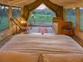 L'intérieur d'une tente