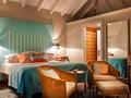 Chambre vue jardin de l'hôtel Guanahani à St Barth