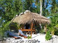 Vue d'un bungalow de l'hôtel Raimiti Fakarava
