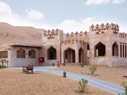 Vue du 1000 Nights Camp, situé au cœur du désert omanais