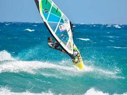 Windsurf sur la plage