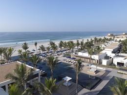 L'Al Baleed vous offre un cadre magnifique entre jardins et mer à perte de vue.