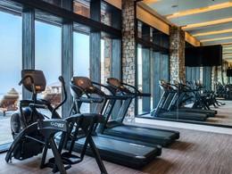 La gym de l'hôtel Alila Jabal Akhdar à Oman