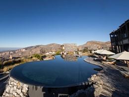 La splendide piscine de l'Alila Jabal Akhdar à Oman