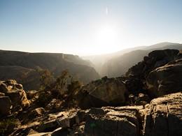 Vue de la région spectaculaire de Jabal Akhdar