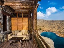 Superbe vue depuis la Ridge View Suite de l'Alila Jabal Akhdar