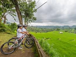 Balade à vélo dans une région balinaise peu touristique