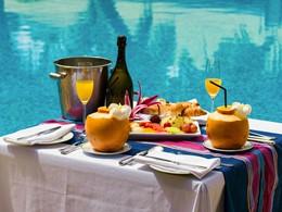 Le petit déjeuner de l'hôtel Alphonse Island
