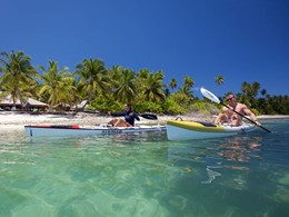 Kayak à l'hôtel Alphonse Island aux Seychelles