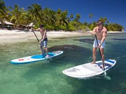 Paddle à l'hôtel Alphonse Island aux Seychelles