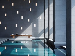 La piscine du Spa, offrant des vues panoramiques