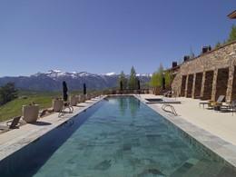 La superbe piscine de l'hôtel Amangani aux Etats Unis