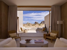 L'Amangiri Suite offre des vues exceptionnelles depuis ses baies vitrées
