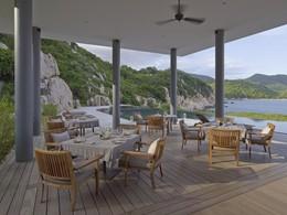Restaurant Beach Club de l'hôtel Amanoi au Vietnam