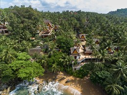 Vue de l'Amanpuri, un boutique hôtel de luxe à Phuket