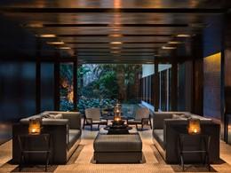 Le lounge du spa de l'hôtel Amansara au Cambodge