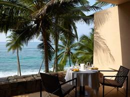 Terrasse de l'Ocean Suite de l'Amanwella au Sri Lanka