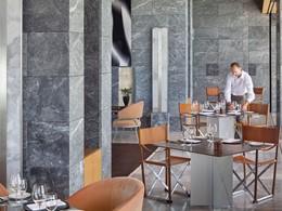 Le restaurant Principale de l'Amanzoé en Grèce