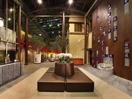 Le lobby de l'AMOY, un charmant boutique-hôtel branché