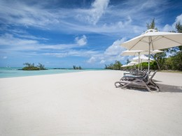 La superbe plage de l'hôtel Anahita The Resort