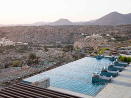La piscine de l'hôtel Anantara al Jabal Al Akhdar Resort