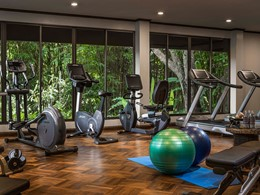 La gym de l'Anantara Golden Triangle Elephant Camp & Resort