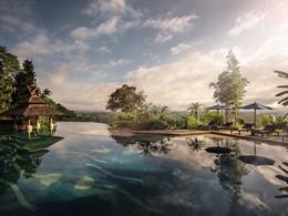 La piscine de l'Anantara Golden Triangle en Thailande
