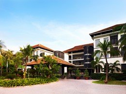 L'entrée de l'Anantara Mui Ne, un luxueux hôtel au Vietnam