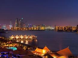 Vue de la ville de Dubaï depuis l'hôtel Anantara