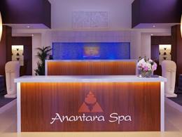 La réception du spa de l'hôtel Anantara à Dubai