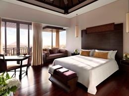Chambre Deluxe Lagoon View de l'Anantara Dubai