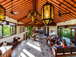 Le lobby de l'Hoi An Ancient House Village au Vietnam