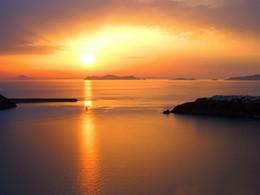 Vue du coucher de soleil
