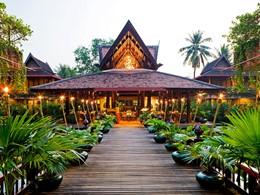 L'entrée du restaurant L'auberge Des Temples de l'Angkor Village