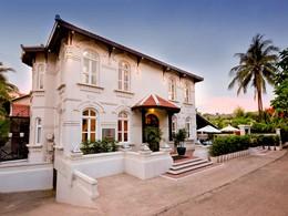 Vue de l'hôtel Ansara situé en plein coeur de Vientiane