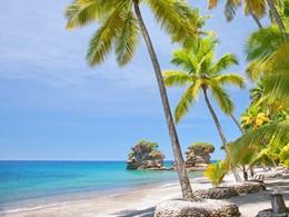 La superbe plage de l'hôtel Anse Chastanet aux Antilles