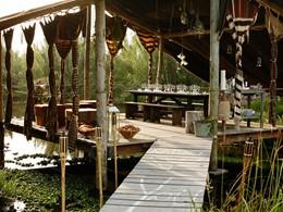 Somptueux repas au bord du lac à l'hôtel Areias do Seixo
