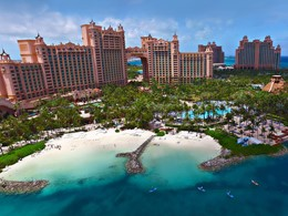 Vue de l'Atlantis, un fabuleux resort installé sur Paradise Island