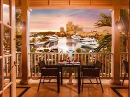 Superbe vue sur la marina depuis le Café Martinique de l'Atlantis