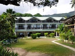 Vue de l'Augerine Guest House, au charme typiquement seychellois