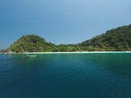 Vue spectaculaire sur la mer d'Andaman