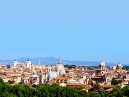 Magnifique panorama sur Rome, la ville éternelle
