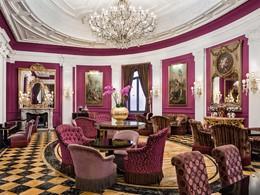 Le lounge du Baglioni Hotel Regina, situé à Rome