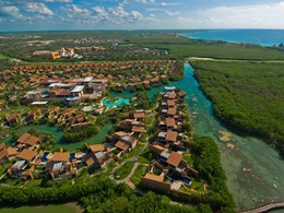 Vue aérienne de l'hôtel Banyan Tree Mayakoba