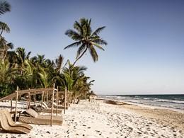 La sublime plage de sable blanc du Be Tulum Hotel