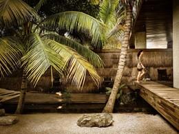 L'entrée du spa du boutique-hôtel de luxe Be Tulum