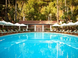 La piscine du Bel-Air Hotel à Los Angeles