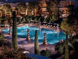 La piscine de l'hôtel Bellagio, situé en plein coeur du Strip.
