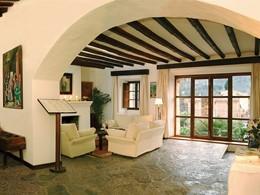 Reception de l'hôtel Belmond La Residencia aux Baléares