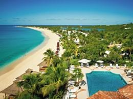 Vue aérienne de l'hôtel Belmond La Samanna aux Antilles